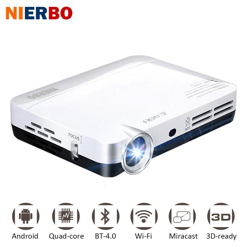 nierbo Mini Proyector LED 3d Full HD 1080p Proyector DLP Proyector ...