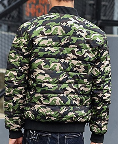 Jacket Padded Down Coat Camouflage UK Mens Winter Puffer 2 today Printed Warm xvBTA7