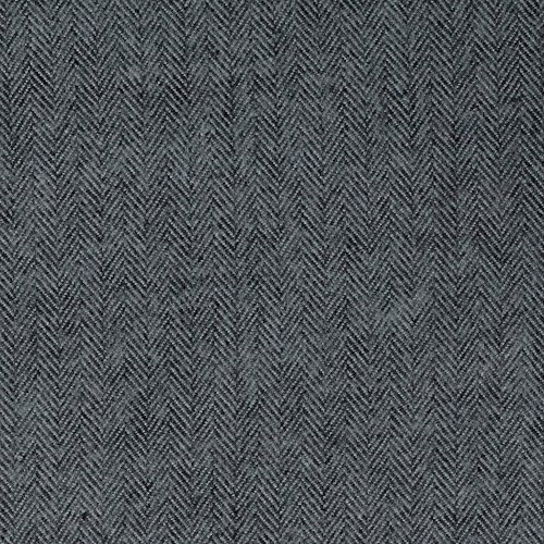 Herringbone Flannel Shirt - Kaufman Shetland Flannel Herringbone Jet Fabric By The Yard