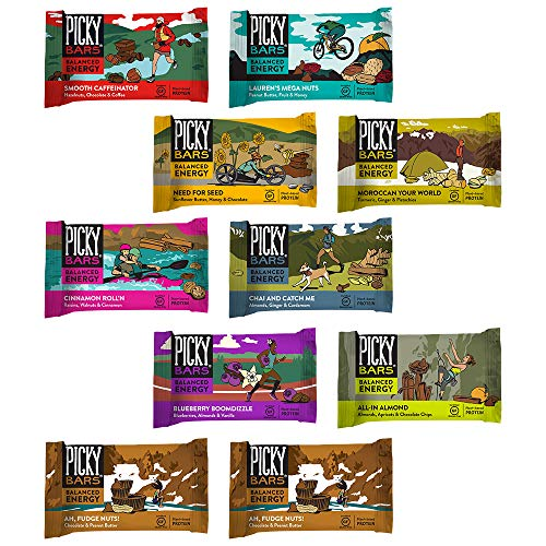 Picky Bars Real Food Energy Bars Whole Shebang Variety Pack, 10 Count
