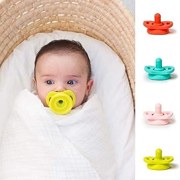 Amazon.com: Chupete flexible de silicona para bebés recién ...