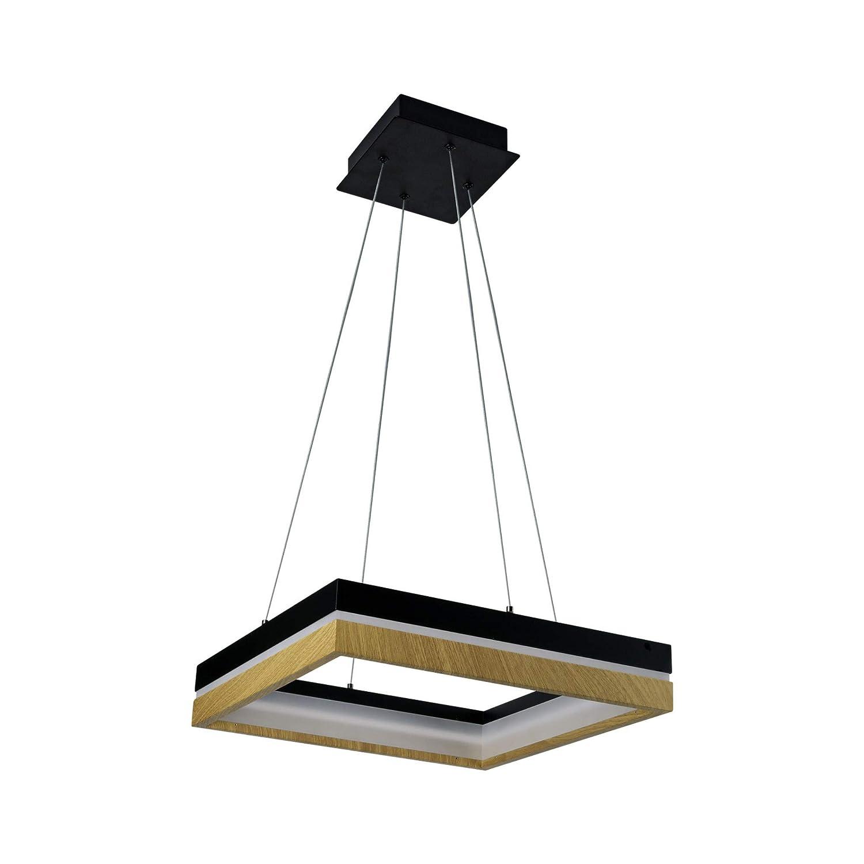 Vonn lighting silva vssc3116bl 16 chandelier lighting fixture in plated black wood finish integrated led 15 75l x 15 75 w x 118 20 75 h amazon