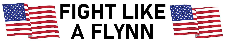 Fight Like a Flynn Bumper Sticker Waterproof Fade Resistant Ink
