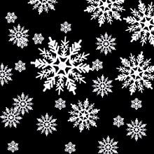 HESTYA 50 Pieces Plastic White Snowflakes Ornaments for Christmas Decoration, Assorted Sizes (Style A, 1, 2, 3, 4, 5, 6 Inches)