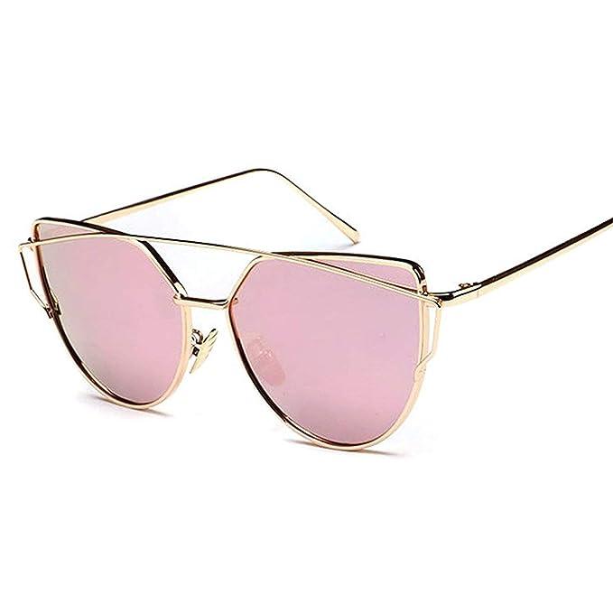 e065a4e8f5b Amazon.com  2019 Best Selling Cat Eye Sunglasses Mirror Shades metal ...