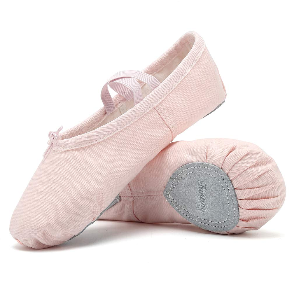 fe4eab3a10b3 Amazon.com | CIOR Girls Ballet Slippers Canvas Ballet Shoes Dance Shoes  Yoga Shoes Flats (Toddler/Little Kid/Big Kid/Women/Boy) Pink | Dance