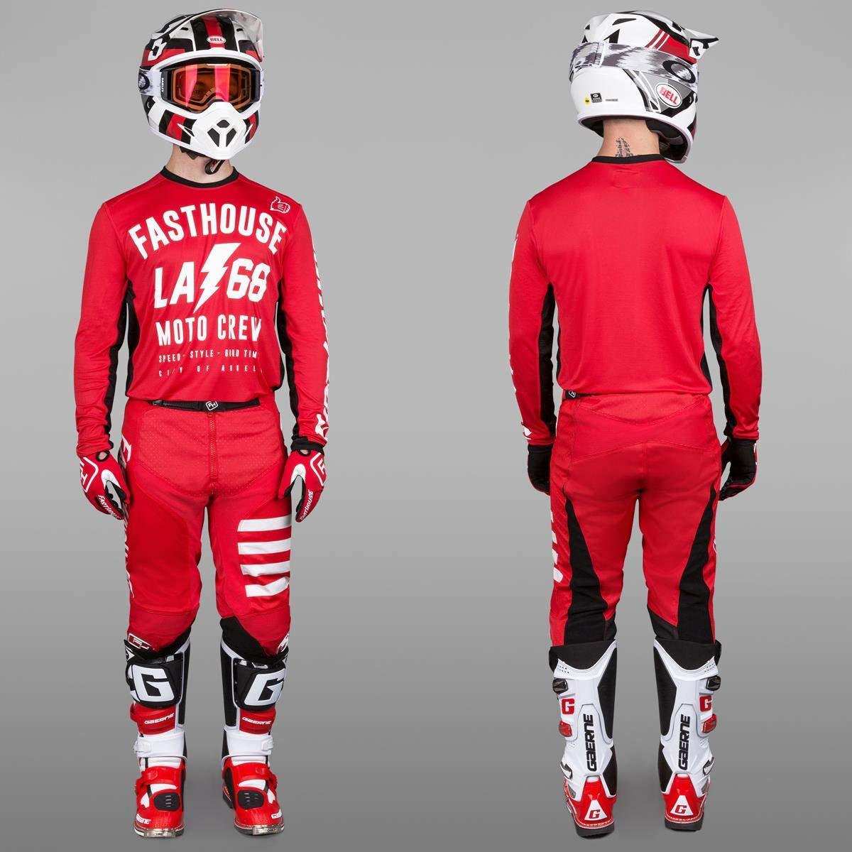 163dd846b Amazon.com  Grey Sz S Fasthouse FH LA 68 L1 Motocross Jersey  Automotive