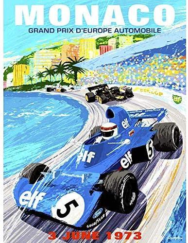 ポスター ヴィンテージ広告モータースポーツモナコグランプリ1973 A4サイズ [インテリア 壁紙用] 絵画 アート 壁紙ポスター