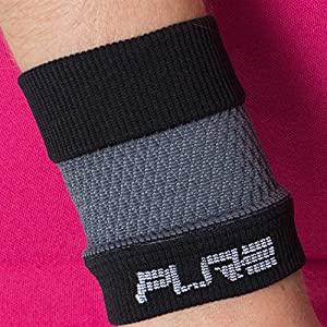 Elite Compression Wrist Support (Pair) - Wrist Sleeves to Relieve Carpal Tunnel, Wrist Pain, Wrist Brace (Black/Grey, L)