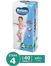 Huggies Pañal Desechable Ultraconfort para Niño, Etapa 4, 40 Cuentas