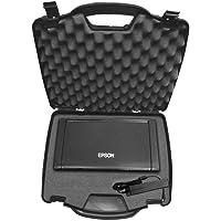 OFFICEFORCE Portable Printer Hard Case w/Customizable Foam fits Epson Workforce WF-100 Wireless Mobile Printer or Epson…