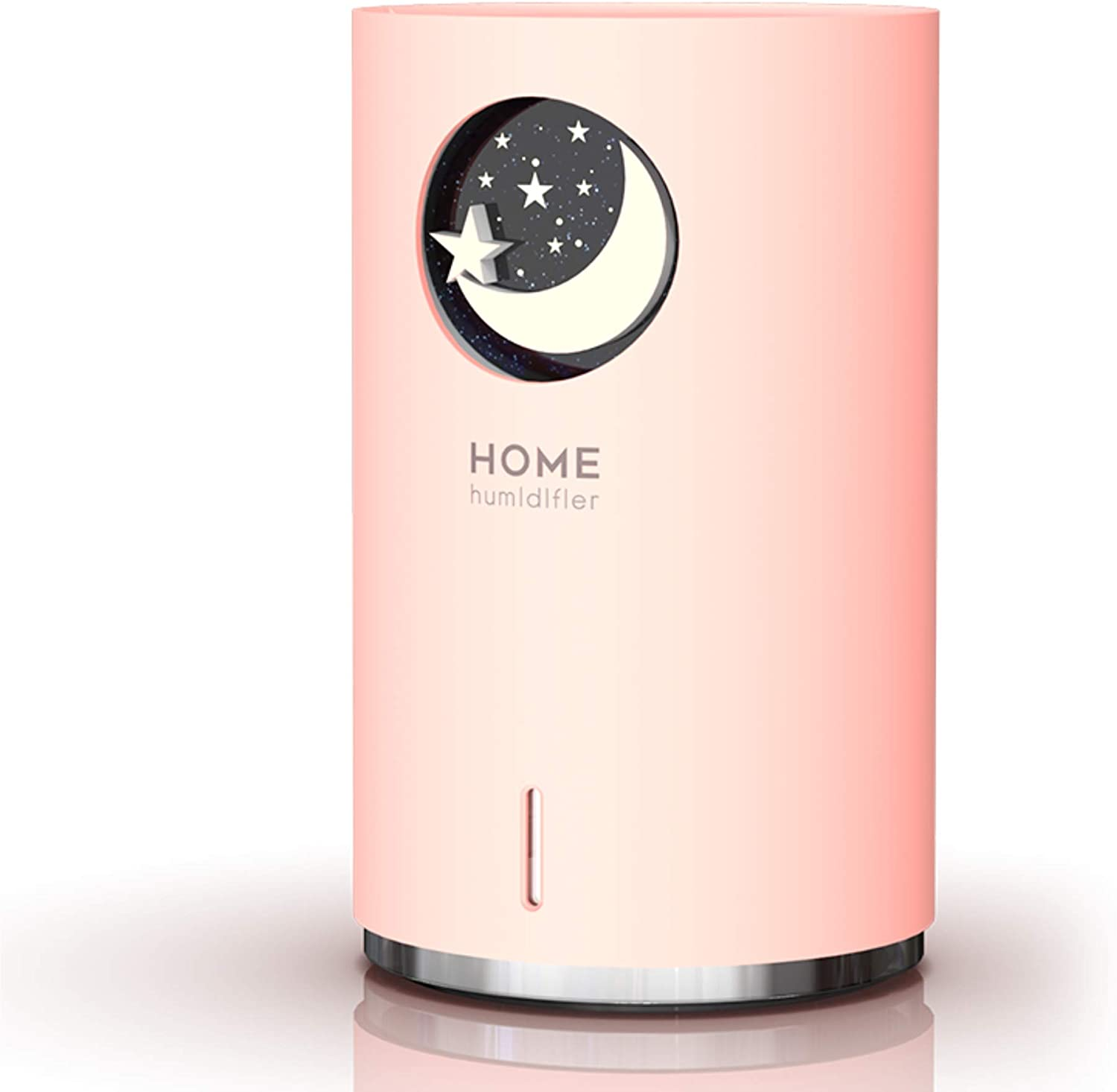 Sicsmiao Ultrasonic Mist Humidifier, Mini Portable humidifier for Bedroom, Adjustable Mist Mode and Auto Shut-Off, 700ml Water Tank, 7 Color Night Light, Suitable for Home, Office, Baby Room (Pink)