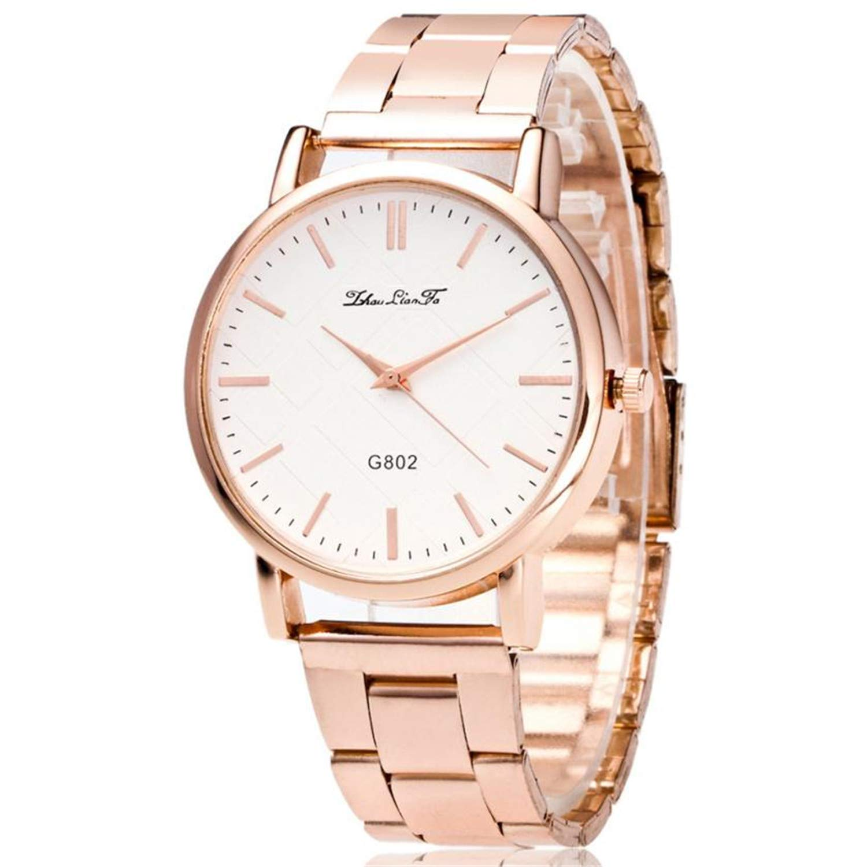 Amazon.com : liberalism Fashion Luxury Women Quartz Stainless Steel Strip Wrist Watch Gift reloj Mujer Acero inoxidable Ladies Watch(Rose Gold, ...