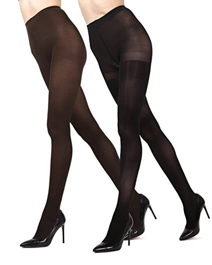 cc0f39268ca MeMoi Ribbed Solid 2-Pair Control Top Tights