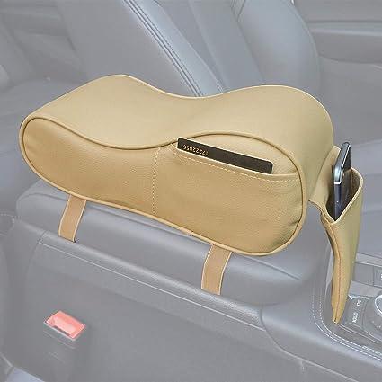 Coj/ín del reposabrazos del coche PU Pasamanos del coche Caja de la almohadilla Coj/ín suave Espuma del coche Reposabrazos central del coche Coj/ín del asiento del autom/óvil universal