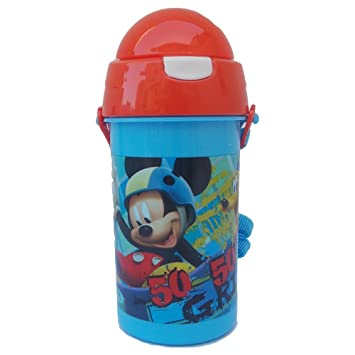 Botella Mickey Mouse Disney Pop-UP DE PLÁSTICO Bolsa de Viaje + ML 500 -