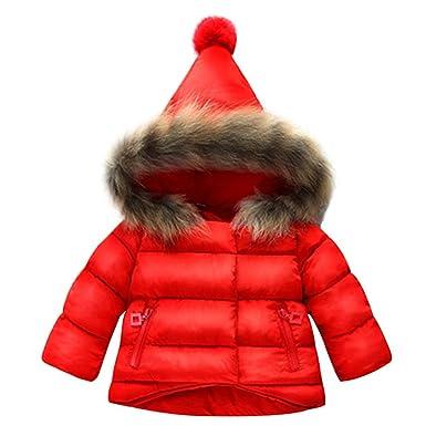 BAINASIQI 2017 Niñas Bebés Abrigo Caliente Chaqueta de Piel Abrigo de Peluche Grueso de invierno (