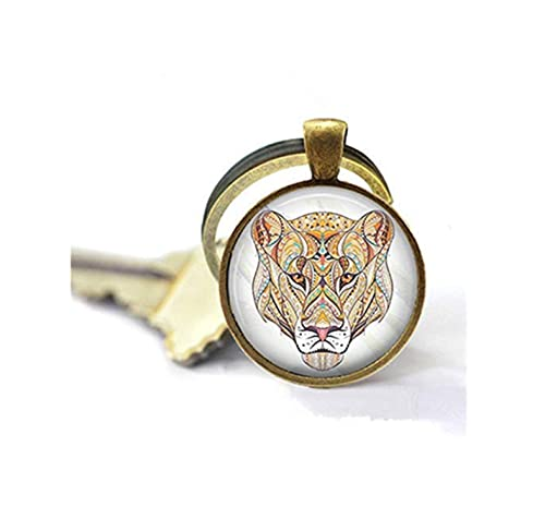 Amazon.com: Llavero con diseño de león con cabeza de león ...