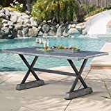 GDF Studio Lavelle | Magnesium Oxide Outdoor Dining Table | in Grey Review
