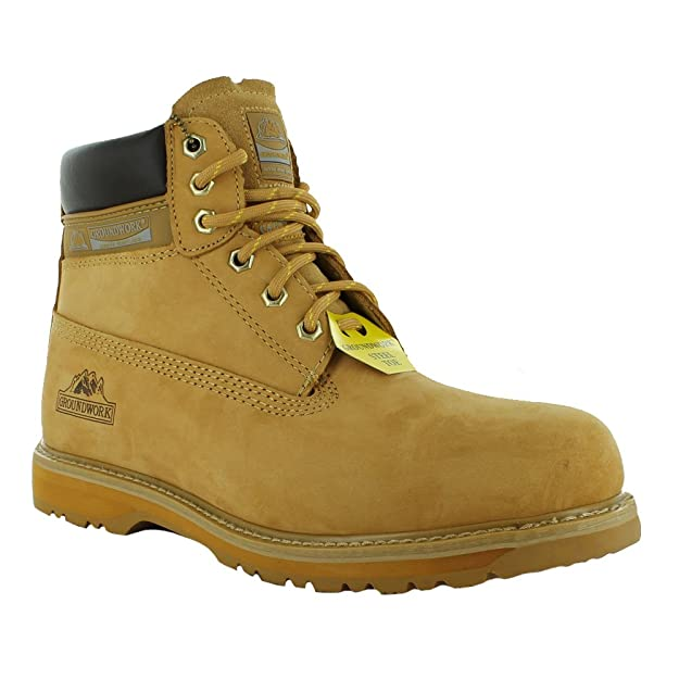1 Negro con cremallera botas de seguridad en el trabajo punta de acero Pierna 9108/Tuffking Boot UK4/ UK 4 /13