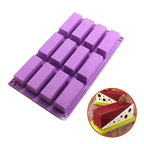 I-Baker Molde Cuadrado Antiadherente de Silicona para Tartas, Apto para Uso alimentario,