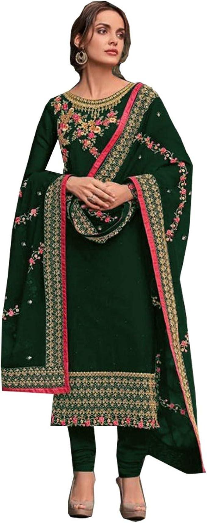 Valentine Special Women Dress Designer Indian Bridal Embroidery Stitch Work Suit