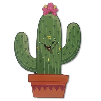 Wall clock - Cactus