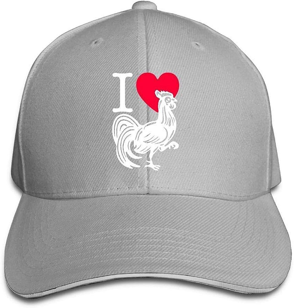Presock Gorra De Béisbol,Gorro/Gorra Unisex I Love Heart Cock-1 ...