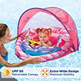 SwimSchool Lil' Mermaid Baby Boat with Sounds and Light, Retractable Canopy, UPF 50, Adjustable Seat, Inflatable Pool Float, 6 to 24...