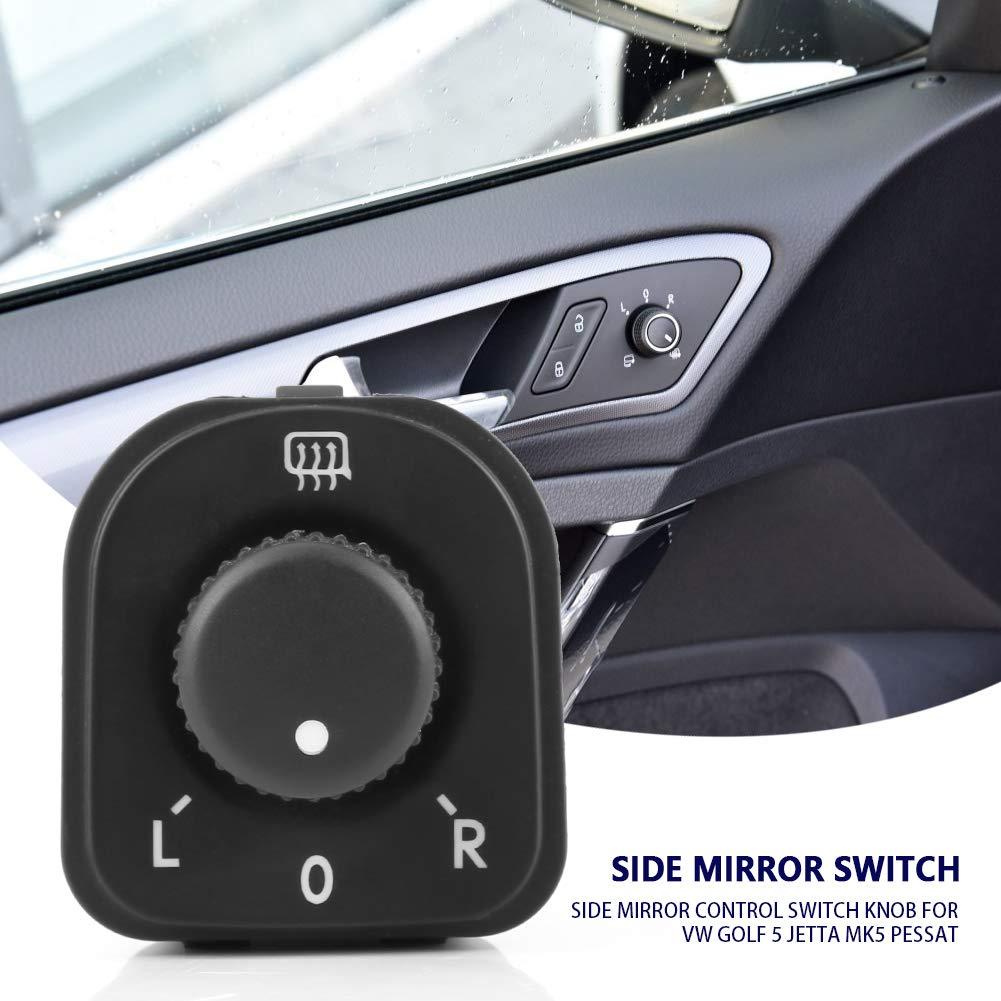 Perilla del interruptor de control del espejo lateral del coche, Control de calor de ventana para MK5 EOS 1F7 1F8: Amazon.es: Coche y moto