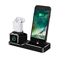Deals on Tendak 3 in 1 Silicone Charging Dock Station for AirPods