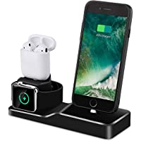 Tendak 3 in 1 Silicone Charging Dock Station and 42mm Apple Watch Series 1/2/3, iPhone X/8/8 Plus/ 7/7 Plus /6s/5s