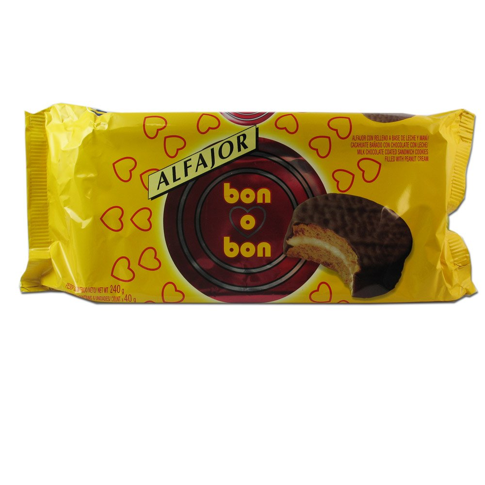 Bon O Bon Milk Chocolate Alfajores 6 Cookies Per Package