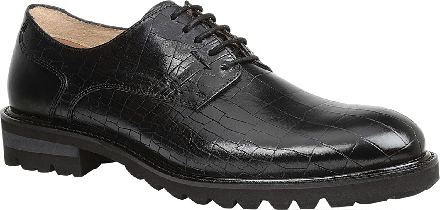 Men's Brenner 5 Eyelet Croco Print Leather Fashion Oxfords