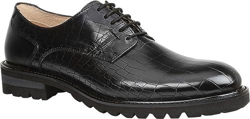 GBX Men's Brenner Plain Toe Derby Black Leather Size ...
