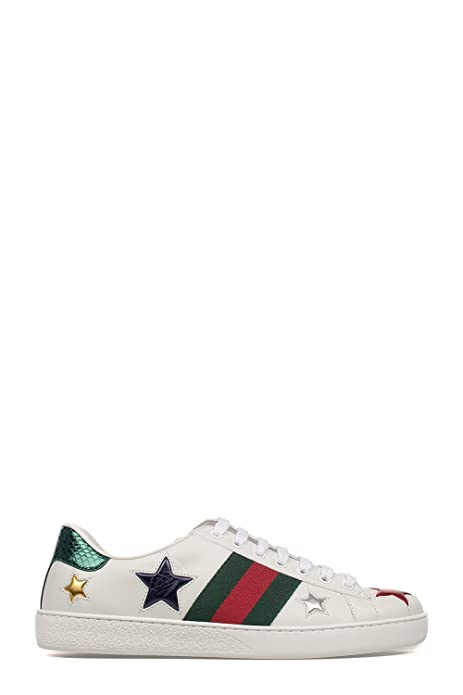 Gucci Hombre 452502DOP509076 Blanco Cuero Zapatillas: Amazon.es: Zapatos y complementos