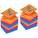 Post-it 76 x 76 mm Super Sticky Z-Notes - Bangkok Colour (Pack of 12)