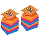 Post it 76 x 76 mm Notes Refill Super Sticky Notes Z-Note, Bangkok Colour Collection, 12 Pads