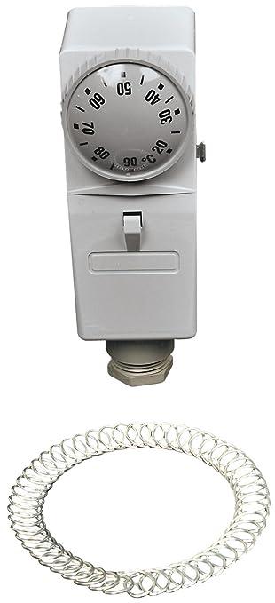 au/ßenliegende Verstellung Afriso Geh/äuse-Anlegethermostat GAT//7RC 67401x