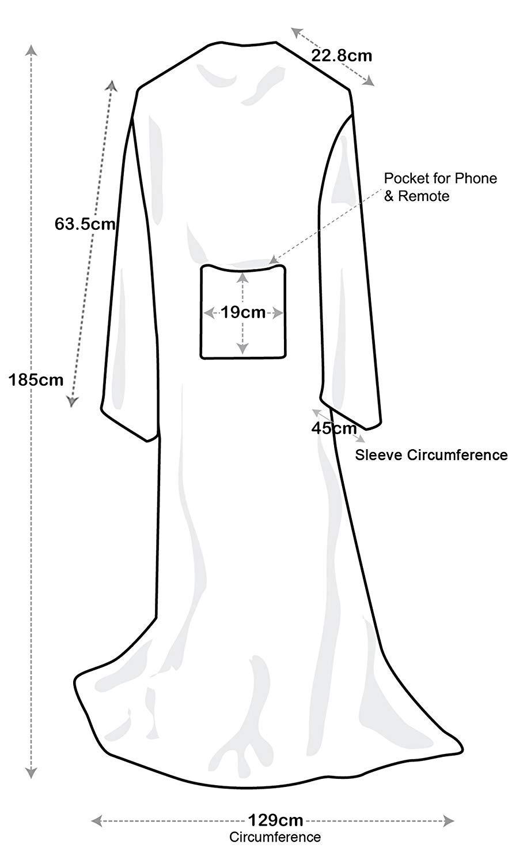 Catalonia Vliesdecke mit Ärmeln, weiche Mikrofaserdecke aus Nerz, Flauschige Überwurfdecke für Frauen und Männer, Microfaser,Blue