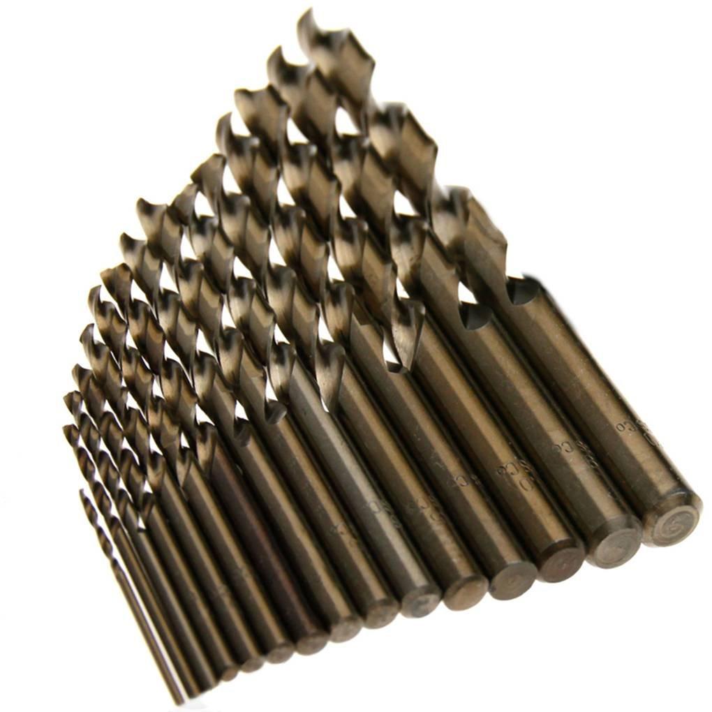 15pcs M35 1.5mm-10mm HSS Cobalt Twist Drill Bits Hand Spiral Drill Bit Straight Shank Drilling Tool Provide The Best