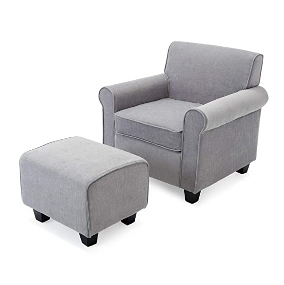 Amazon.com: Hebel Retro Chairs Ottoman Upholstered Foam Cushions ...