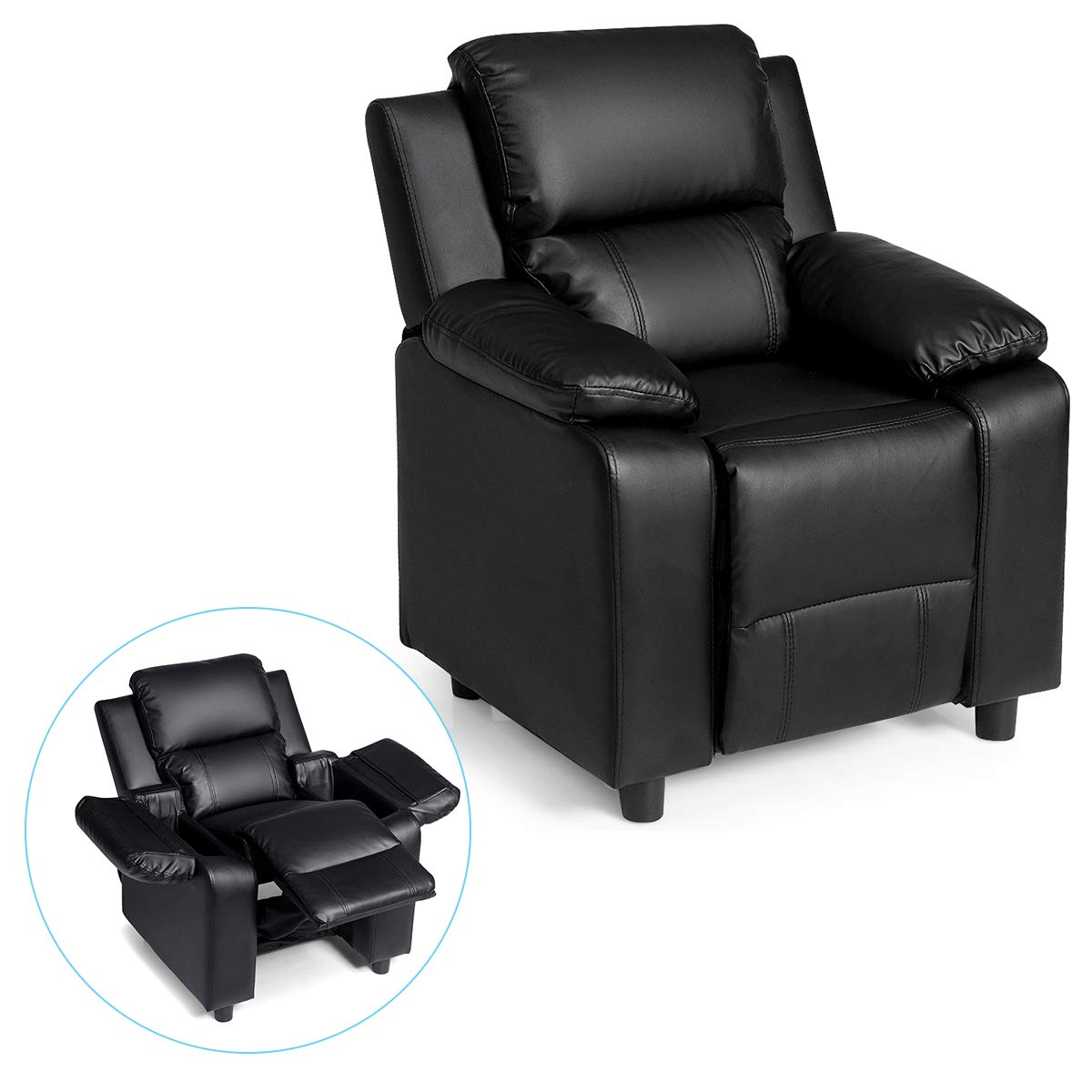 Costzon Kids Sofa Recliner, Children PU Leather Armchair