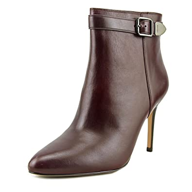 Womens Lenox Leather Almond Toe Ankle Fashion Boots