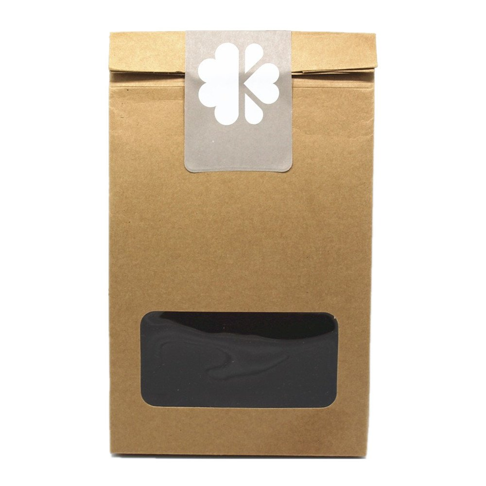 7.48''x3.14''x12.59'' (19*8*32cm) 50 Pieces Brown Stand Up Kraft Paper Presents Box With Clear Window Collapsible Take Out Packing Boxes