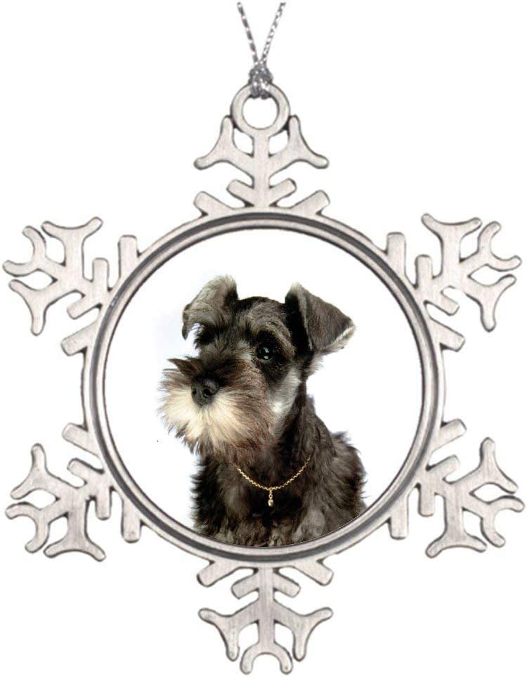 Schnauzer Black and White Dog Memorial Christmas Ornament Sympathy Gift for Pet Owner