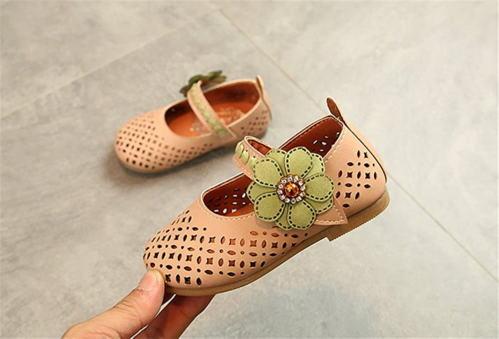 SUNNY Store Toddler Girls Buckle Straps Princess Dress Shoes Round Toe Mary Jane Ballet Flat