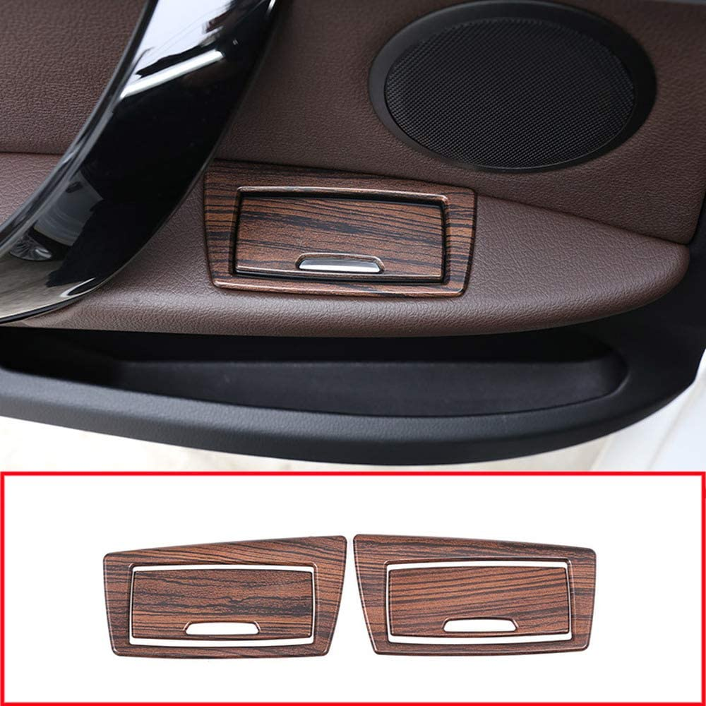 MYlnb for BMW X1 F48 2016-2019,Pine Wood Grain ABS Door Ashtray Sequins Trim Decoration Sticker Accessories Car Styling