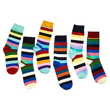 Calcetines de los hombres Calcetines impresos de fantasía multicolor Patrón Diversión Unisex Moda 5/6