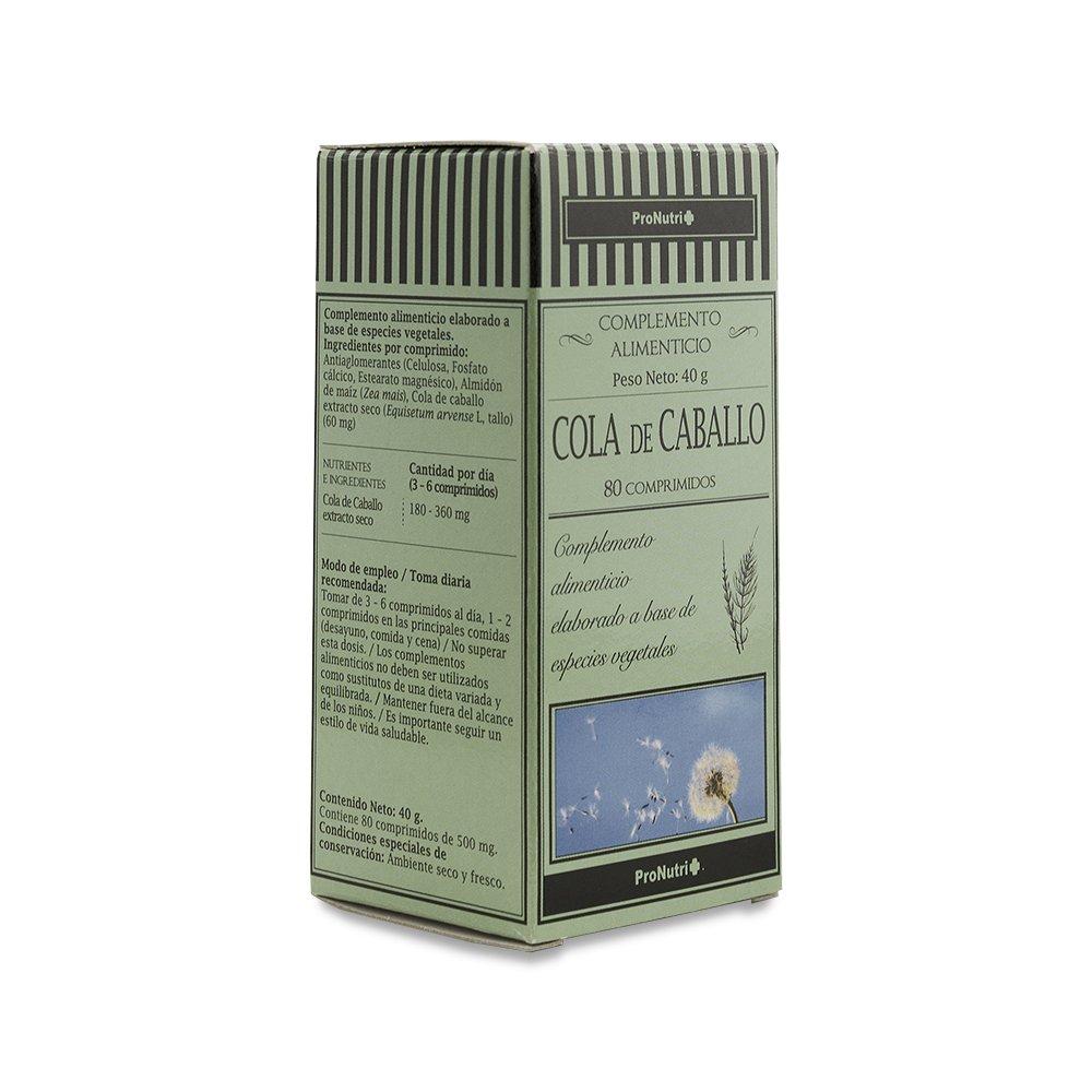 PRONUTRI - PRONUTRI Cola de Caballo 80 comprimidos: Amazon.es: Salud y cuidado personal